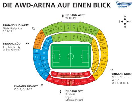 Stadionplan Hannover 96
