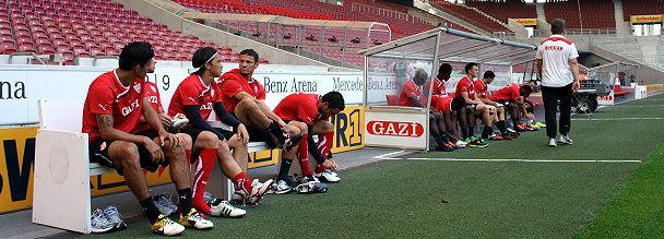 Training in der Mercedes-Benz Arena