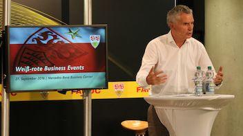 27. September 2016 | Weiß-rote Business Events | Vorstellung von Wolfgang Dietrich und Einblicke von Jan Schindelmeiser