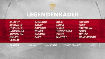 VfB Legenden auf dem Spielfeld vereint