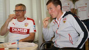 Franz Reiner und Hannes Wolf bei der Registrierung