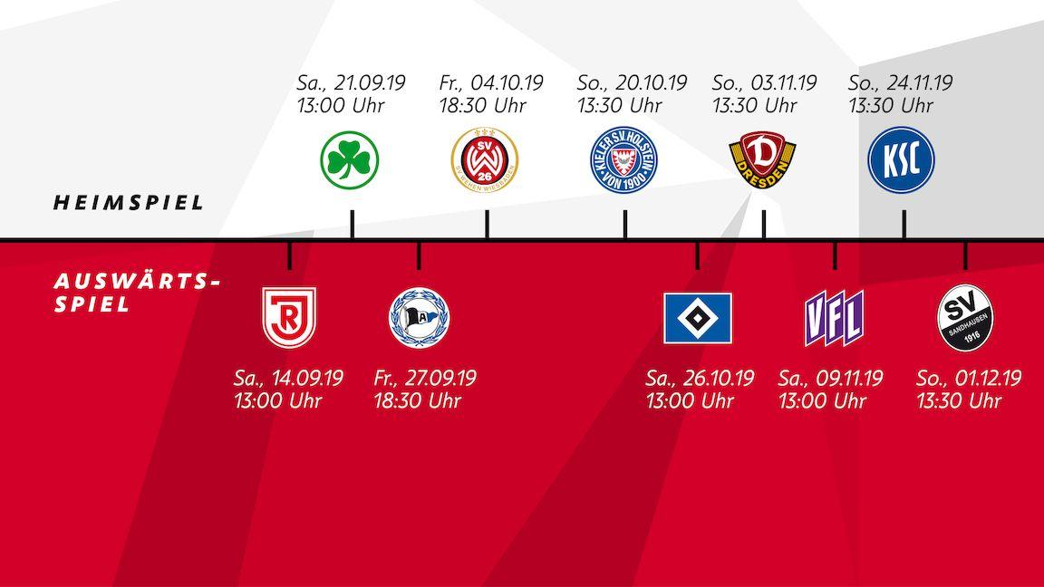 Matchdays 9 to 15 scheduled