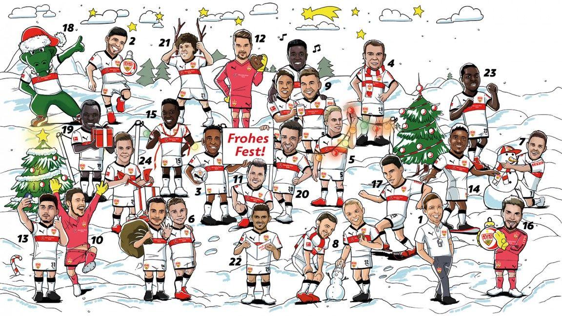 Weiß-rote Adventszeit