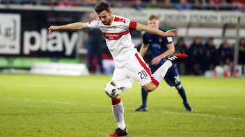 Christian Gentner was on target to put VfB in the driving seat.