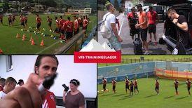 Erstes Training mit den Nationalspielern