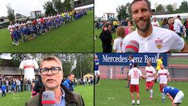 Einlagespiel der VfB Traditionself in Münchingen