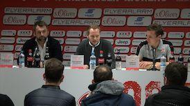 Die PK mit Hannes Wolf und Bernd Hollerbach