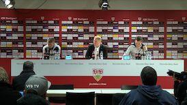 Die PK mit Hannes Wolf und Friedhelm Funkel