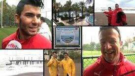 Stürmische Zeiten im Trainingslager