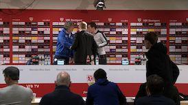 Die PK mit Hannes Wolf und Gertjan Verbeek