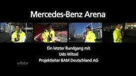 Abschiedsrundgang durch die Mercedes-Benz Arena