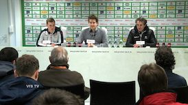 Die PK mit Hannes Wolf und Janos Radoki