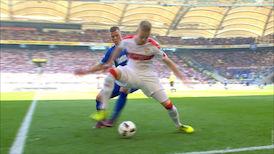 1. Halbzeit: VfB Stuttgart - Karlsruher SC