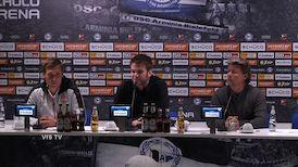 Die PK mit Hannes Wolf und Jeff Saibene
