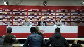 Die PK mit Hannes Wolf und Jens Keller