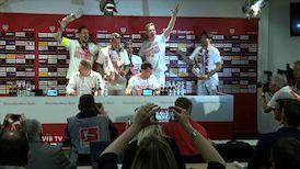 Die PK mit Cheftrainer Hannes Wolf