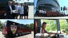 Impressionen vom neuen Mannschaftsbus