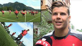 Mitch Langerak zum ersten Trainingstag in Grassau