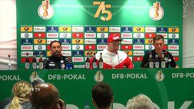 Die Pressekonferenz nach dem Cottbus-Spiel