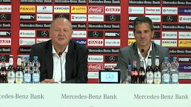 Die Pressekonferenz zur Stadiondach-Erneuerung der Mercedes-Benz Arena