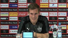 Die Pressekonferenz vor dem Spiel gegen Augsburg