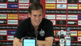 Die VfB PK vor dem Spiel bei Eintracht Frankfurt