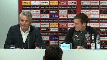 Die VfB PK vor dem Spiel gegen Köln