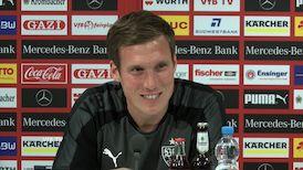 Die VfB PK vor dem Spiel in Leipzig