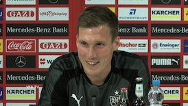 Die VfB PK vor dem DFB-Pokalspiel in Kaiserslautern