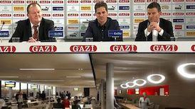 Die Präsentation der neuen Soccer Lounge der Arena