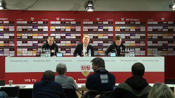 Pressekonferenz: VfB Stuttgart - Bayer 04 Leverkusen