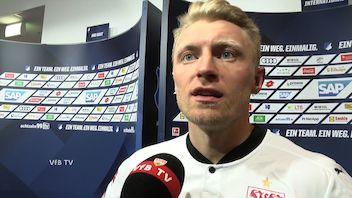 Andi Beck nach dem Spiel in Hoffenheim