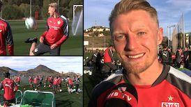 Andreas Beck nach dem ersten Training in Spanien