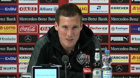 Die VfB PK vor dem Spiel gegen Hertha BSC Berlin