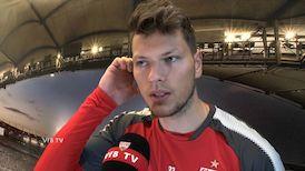Daniel Ginczek nach dem Spiel in Mainz