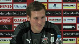 Die VfB PK vor dem Spiel gegen Schalke 04