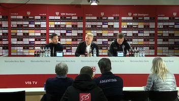 Pressekonferenz: VfB Stuttgart - FC Schalke 04