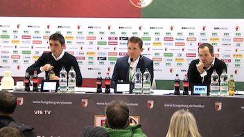 Pressekonferenz: FC Augsburg - VfB Stuttgart