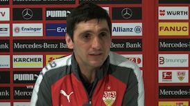 Die VfB Pressekonferenz vor dem Spiel in Köln