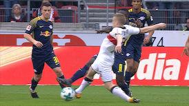 1. Halbzeit: VfB Stuttgart - RasenBallsport Leipzig
