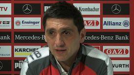 Die Pressekonferenz vor dem Spiel in Dortmund