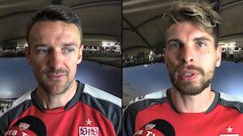 Die Interviews nach dem Spiel in Leverkusen