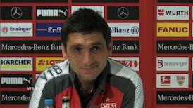 Die VfB Pressekonferenz vor dem Spiel in München