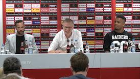 Pressekonferenz mit Neuzugängen