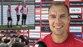 Holger Badstuber am VfBTV Mikrofon