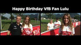 VfB Fan & Geburtstagskind Lulu