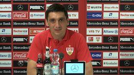 Die Pressekonferenz vor dem Pokalspiel in Rostock