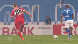 1. Halbzeit: FC Hansa Rostock - VfB Stuttgart