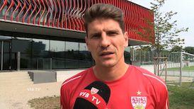 Mario Gomez nach dem Pokalspiel beim F.C. Hansa Rostock