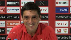 Die VfB Pressekonferenz vor dem Spiel in Mainz